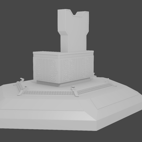 Download Stl File Basic Thanos Throne From Infinity War 3d Printable Model Cults
