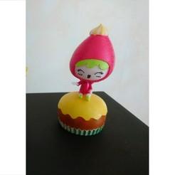 kawaii-fraise.jpg Télécharger fichier STL Fraise kawaii sur gâteau • Design pour imprimante 3D, selinav42