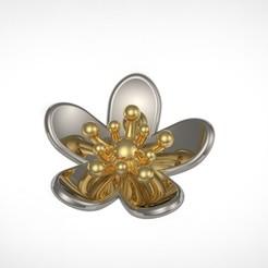 Télécharger modèle 3D gratuit boucle d'oreille pingete fleur, RichardFlorencio