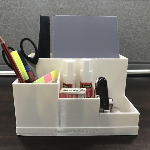cfe901c4595466fadbdf1d4c53437806_display_large.JPG Download free STL file Office Desk Organiser • 3D printer model, varun