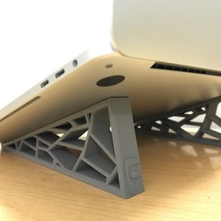 Free STL Generative Design Stand for MacBook, varun