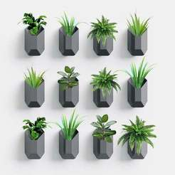 Wall_Planter_Render.jpg Download free STL file Rock - Indoor and Outdoor Wall Hanging Planter • 3D printable design, varun