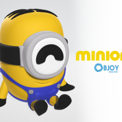 Free 3D print files Minion Figure & Keychain - by Objoy Creation, objoycreation