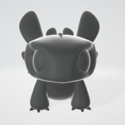 Free 3D printer files Toothless - Cute figurine, objoycreation