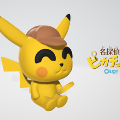Download 3D printer designs Detective Pikachu Figurine & Keychain, adam_leformat7