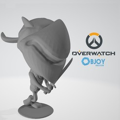 Free STL Genji Overwatch Figurine - by Objoy Creation, objoycreation