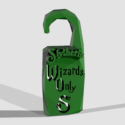 "Download 3D model ""Wizards Only"" - Slytherin House - Harry Potter - Do not disturb, adam_leformat7"