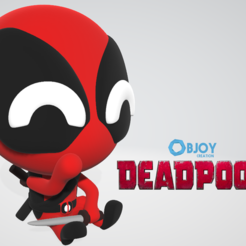 Free STL file Dead Pool - Figurine and Keychain - by Objoy Creation, objoycreation