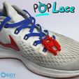 Download free 3D model Spider Man Into the Spiderverse Logo - Accessory for shoe lace - POPLace, adam_leformat7
