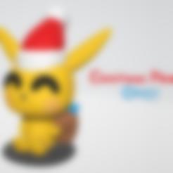 Download free 3D printer designs Christmas Pikachu - by Objoy Creation, objoycreation