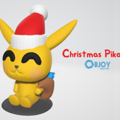 Download STL files Christmas Pikachu, adam_leformat7