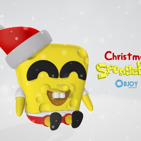 Download free 3D printing designs Christmas SpongeBob - by Objoy Creation, objoycreation
