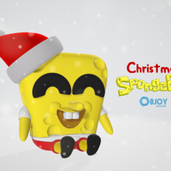 Free STL file Christmas SpongeBob - by Objoy Creation, objoycreation