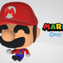 Free 3D printer files Mario Figure & Keychain - by Objoy Creation, objoycreation