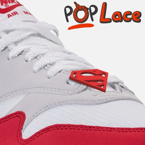 Download free STL SuperMan LOGO - ACCESSORY FOR SHOE LACE - POPLACE, adam_leformat7