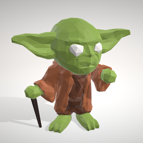 yoda_lowpolypop.png Download STL file Yoda - LowpolyPOP Collection • 3D printer template, adam_leformat7