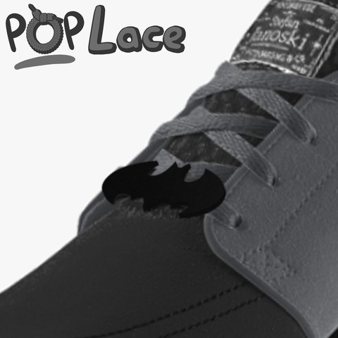 STL file batman LOGO - ACCESSORY FOR SHOE LACE - POPLACE, objoycreation