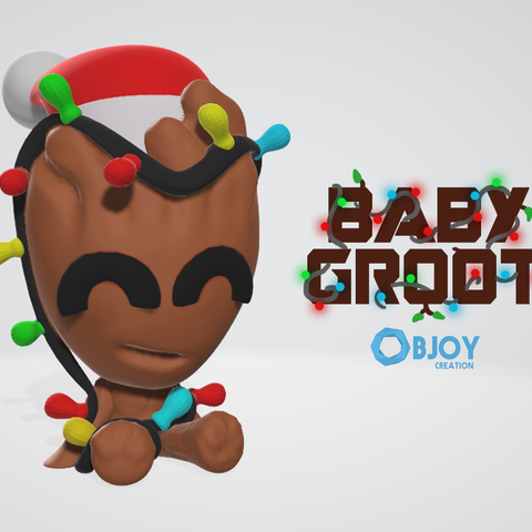 Download free 3D printing designs Baby Groot, objoycreation
