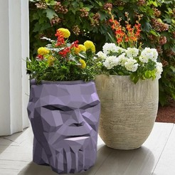 Download 3D printing models Thanos Flower Pot - Low poly, adam_leformat7