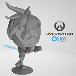 Free STL file Tracer Overwatch Figurine - by Objoy Creation, objoycreation
