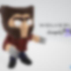 Free STL files Wolverine - LowpolyPOP by Objoy, objoycreation