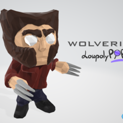Free STL files Wolverine - LowpolyPOP by Objoy, objoycreation