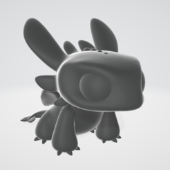 Free 3D printer files Toothless - Cute figurine, objoycreation