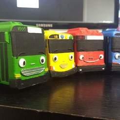 Download STL file 4 Little buses • Model to 3D print, MASS3D