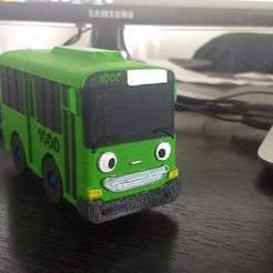 Download STL file Green little bus • 3D print design, MASS3D