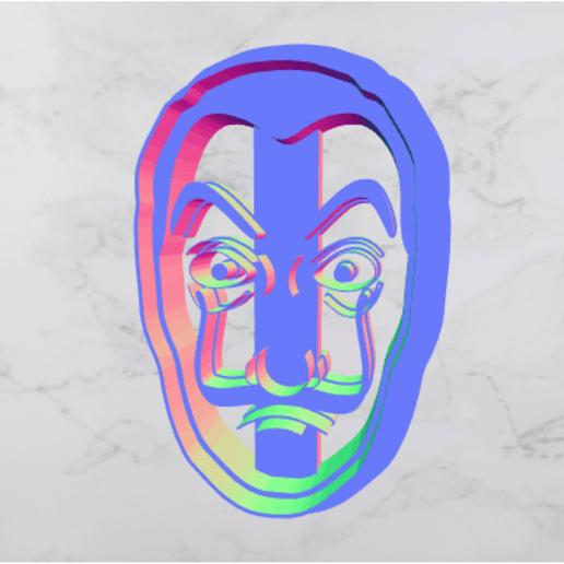 Impresiones 3D El robo del dinero - Máscara de Salvador Dalí, offermansroger