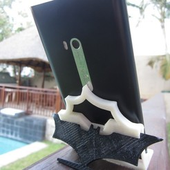 Download free 3D printing models Nokia Lumia 900 Batman stand, roguemat