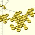 dragon8.png Download free STL file Dragon curve 8 • 3D printing template, malinc