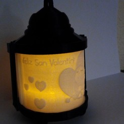 Download 3D printing designs SAN VALENTIN ORIGINAL CANDLE LAMP, contini1976