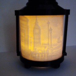 Download 3D printing templates LONDON ORIGINAL CANDLE LAMP, contini1976