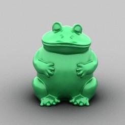 zucco_frog.jpg Télécharger fichier STL Grenouille • Design imprimable en 3D, zuccoMaker