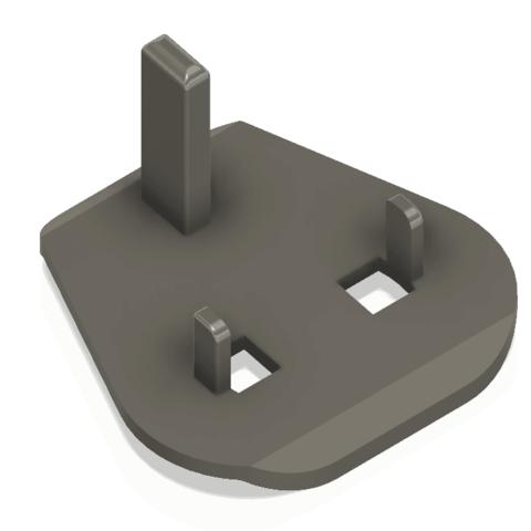 Download free 3D printing designs UK to EU plug, Leluikom