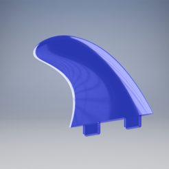 Download 3D printer templates Surfboard fin, Leluikom
