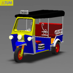 2020-04-21_162609.png Download STL file TUK TUK 3 WHEEL CAR THAILAND No.2 • Model to 3D print, Tum