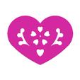 Download free STL files Heart Plate Symbol No.11, Tum