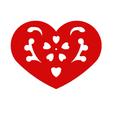 Télécharger fichier impression 3D Plaque Coeur Symbole No.12, Tum
