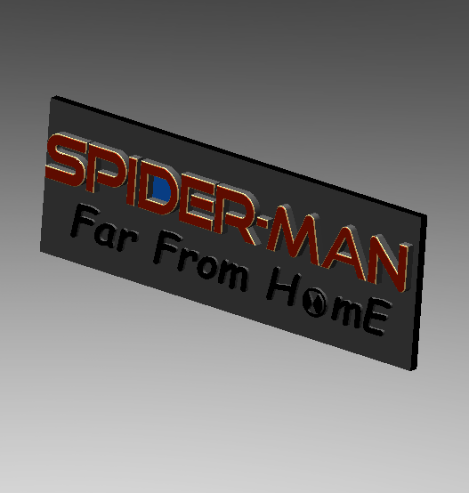 2019-07-06_161743.png Download free STL file Spider Man (Far From Home) Logo Plate • 3D printable template, Tum