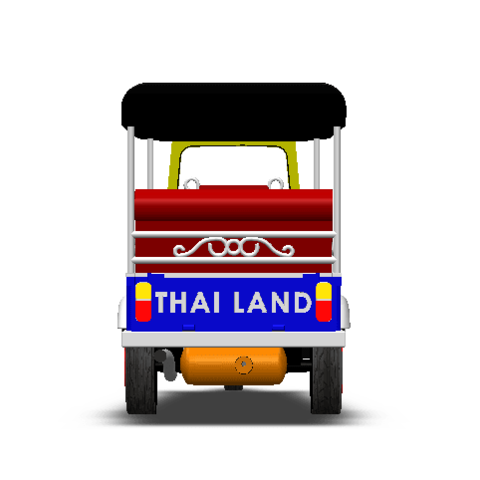 2019-03-05_224942.png Download STL file TUK TUK 3 WHEEL CAR THAILAND No.1 • 3D printable model, Tum