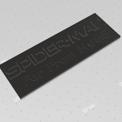 2019-07-06_155741.png Download free STL file Spider Man (Far From Home) Logo Plate • 3D printable template, Tum