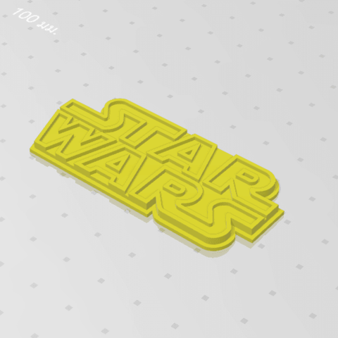 2019-07-28_143123.png Download free STL file STARWARS LOGO PLATE • Template to 3D print, Tum