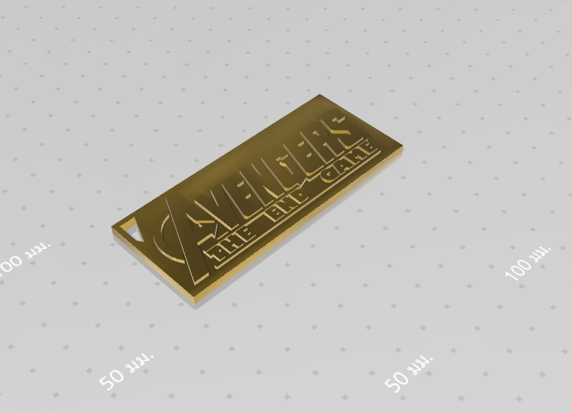 2019-08-03_124705.png Download free STL file KEYCHAIN AVENGERS SYMBOL No.2 (THE END GAME) • 3D printer model, Tum