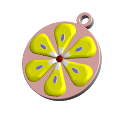 Download 3D printing templates KEYCHAIN Cute Flower, Tum