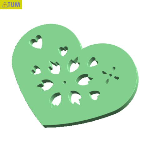 Free 3D printer files Heart Plate Symbol No.9, Tum