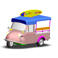 2019-02-12_161339.png Download STL file TUK TUK 3 WHEEL CAR • Template to 3D print, Tum