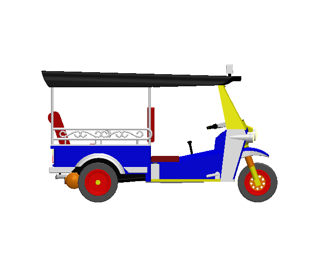 2019-03-16_194013.png Download STL file TUK TUK 3 WHEEL CAR THAILAND No.1 • 3D printable model, Tum