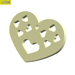 Download free STL Heart Plate Symbol No.6, Tum